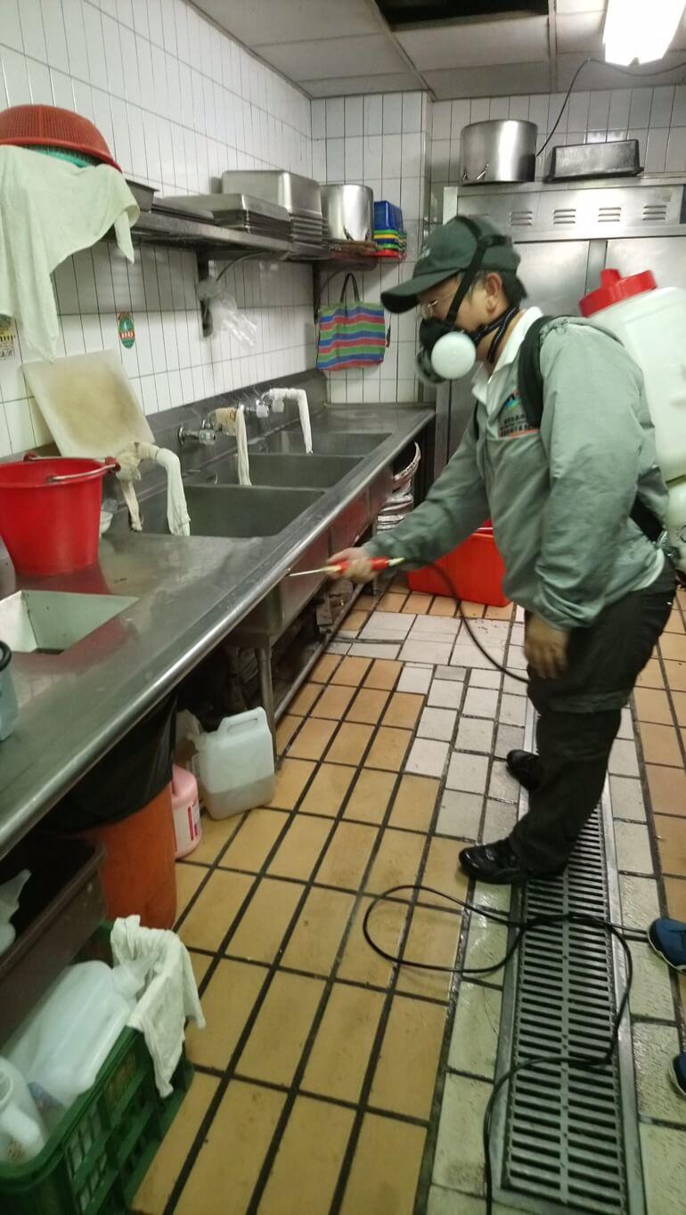 飯店廚房消毒
