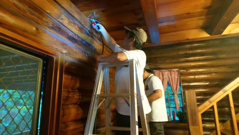 高雄六龜私人木屋除白蟻,除蟲工程